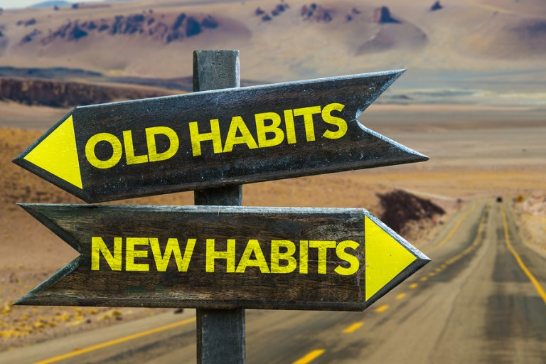 bigstock-Old-Habits-New-Habits-signpo-109667729
